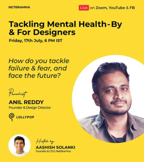 """As a panelist on """"Tackling mental health – by & for designers"""""""