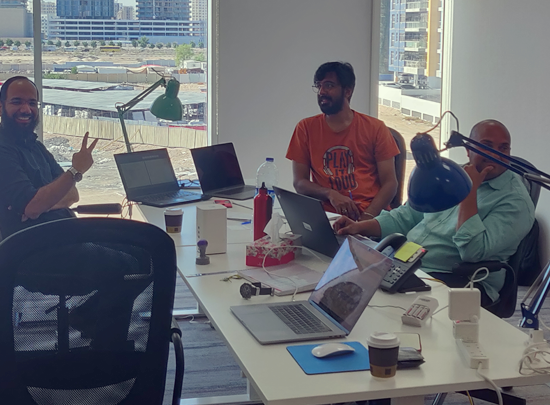 Our first design session in Dubai